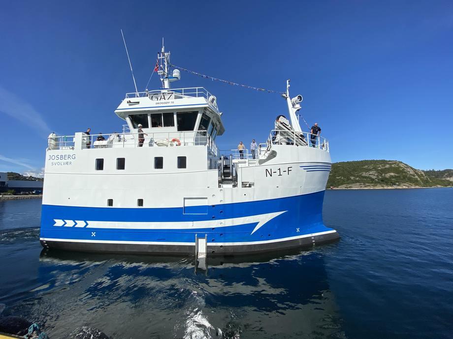 Den nye «Josberg» er levert fra GOT Skogsøy til Fiskebåtrederiet Vito i Lofoten. Foto: GOT Skogsøy