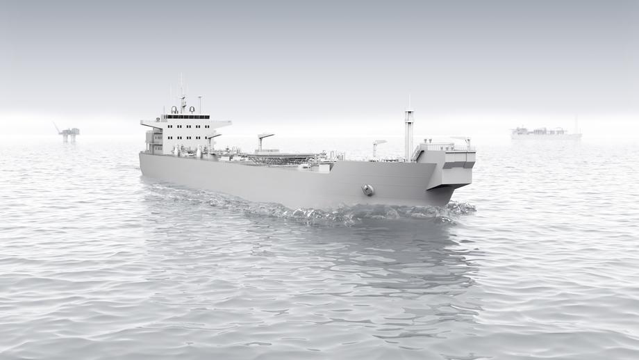 ABB leverer elektriske løsninger med batterilagring for økt effektivitet og bærekraft til Knutsens nye skytteltankere. Illustrasjon: ABB