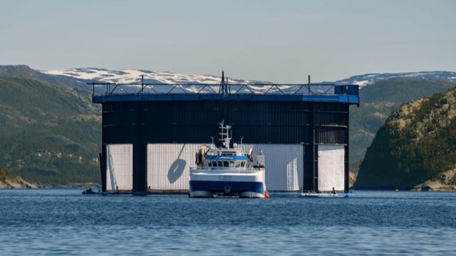 The Aquatraz is a semi-closed cage developed by Midt-Norsk Havbruk, which is exploring a possible merger with NRS. Photo: MNH.