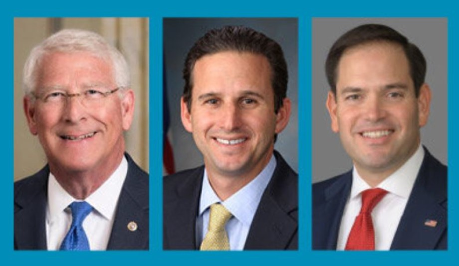 From left: Senators Roger Wicker, Brian Schatz and Marco Rubio are sponsoring the AQUAA Act. Image: SATS.