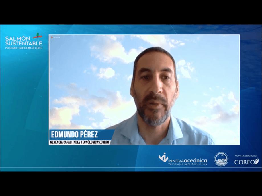 Edmundo Pérez, gerente de capacidades tecnológicas de Corfo, dirigió las presentaciones durante el segundo día del seminario.