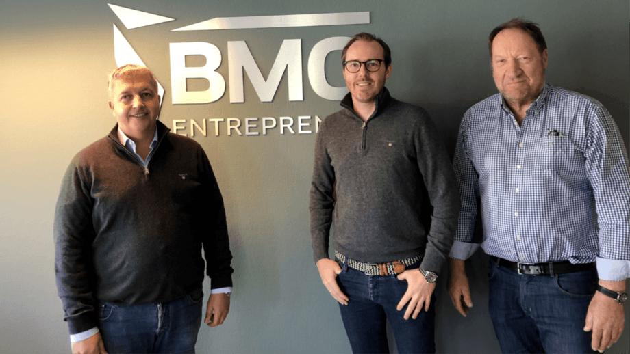 From left: Øivind Horpestad, chairman of Endúr ASA, Jeppe Raaholt, managing director of BMO Entreprenør, and Vidar Pettersen, majority owner and founder of BMO Entreprenør. Photo:  Endúr/BMO.