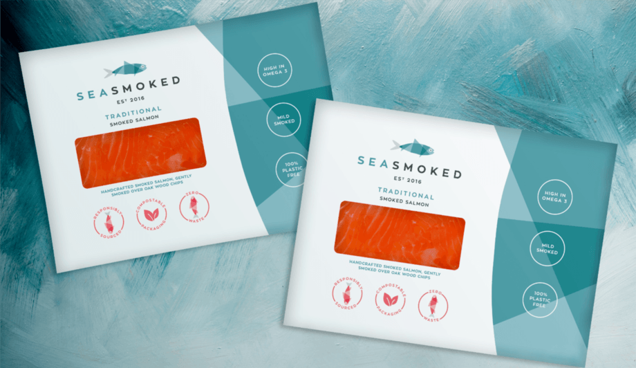 Sea Smoked salmon packs are completely recyclable and home compostable. Photo: Sea Smoked.