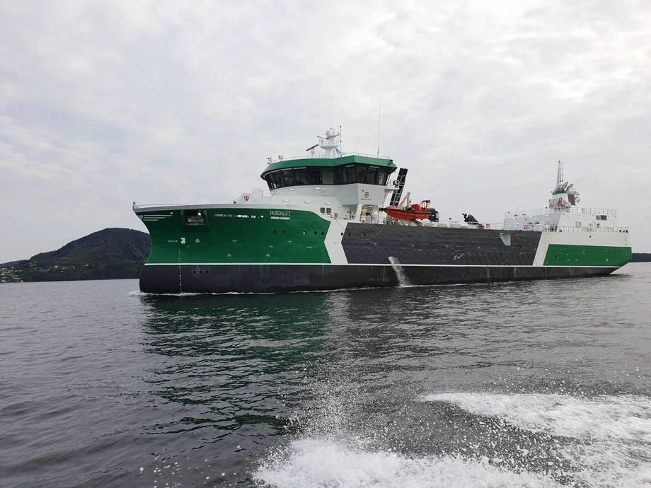 Det skal ha oppstått brann om bord i «Hordagut» tirsdag. Foto: Fitjar Mekaniske Verksted.