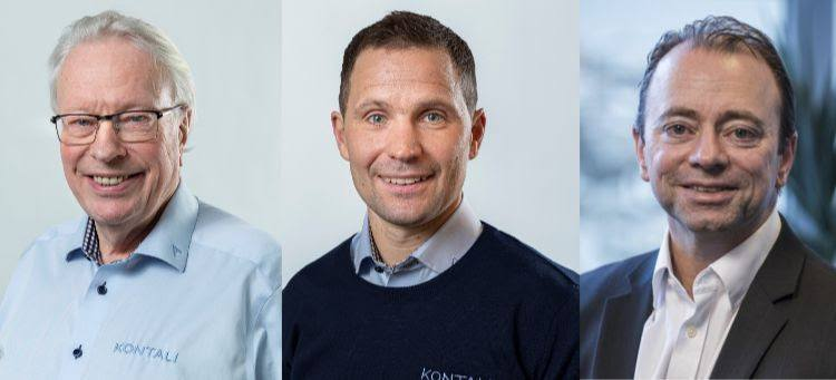 From left: Kontali chairman and founder Lars Liabø, Kontali chief executive Thomas Aas, and Morten Henriksen, executive vice prsident of Arendals Fossekompani. Montage: Kontali.