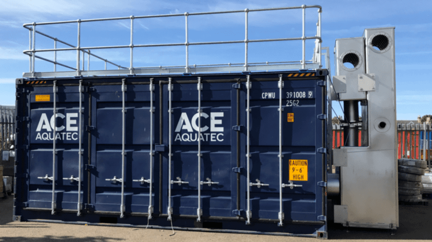 Variety pack: Ace Aquatec's containerised sea lice system has different ways of removing the parasite. Photo: Ace Aquatec website.
