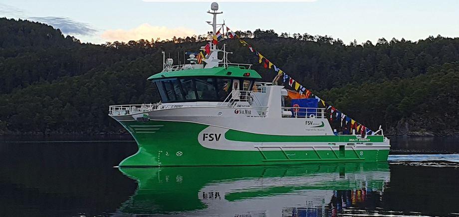 Sletta verft leverer hybridkskip til havbruksnæringen. Foto: Sletta Verft