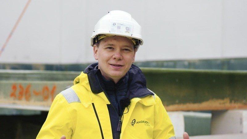 Martin Rasmussen, konsernsjef i Andfjord Salmon. Foto: Andfjord Salmon