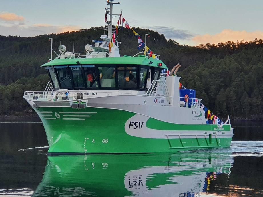 Hybridfartøyet «Multi Energy» er overlevert fra Sletta Verft til FSV Group. Foto: Sletta Verft