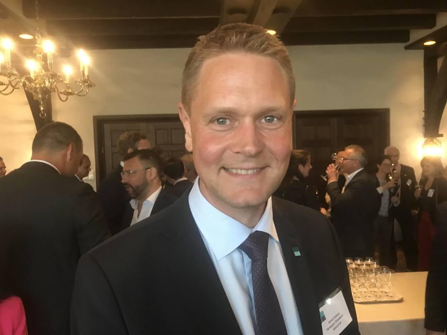 Harald Solberg i Norges rederiforbund fornøyd med budsjettavtalen. Foto: Sigbjørn Larsen.