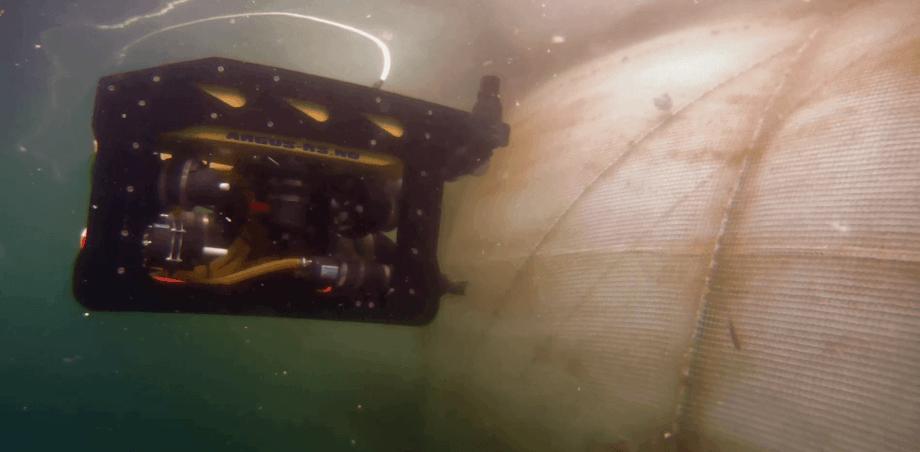 Not-inspeksjon er en vanlig ROV-operasjon i havbruk, som har stort potensiale til å automatiseres. Foto: Sintef