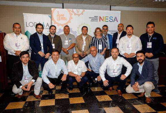 Grupo de compañías proveedores participantes del Nodo Exportación Servicios Acuícolas. Foto: Nodo Nesa.