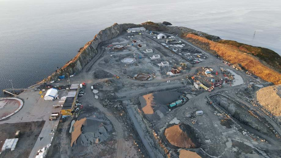 Some foundations are now in place at Salmon Evolution's site. Photo: Artec Aqua.