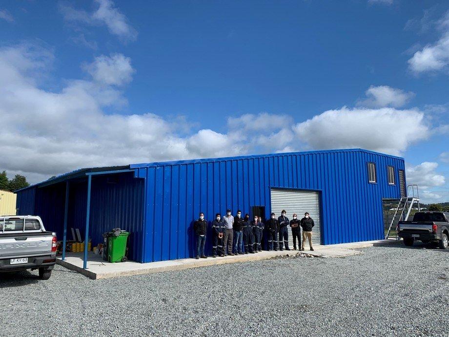 El equipo de trabajo de Imatek en las nuevas oficinas propias. Foto: Imatek.