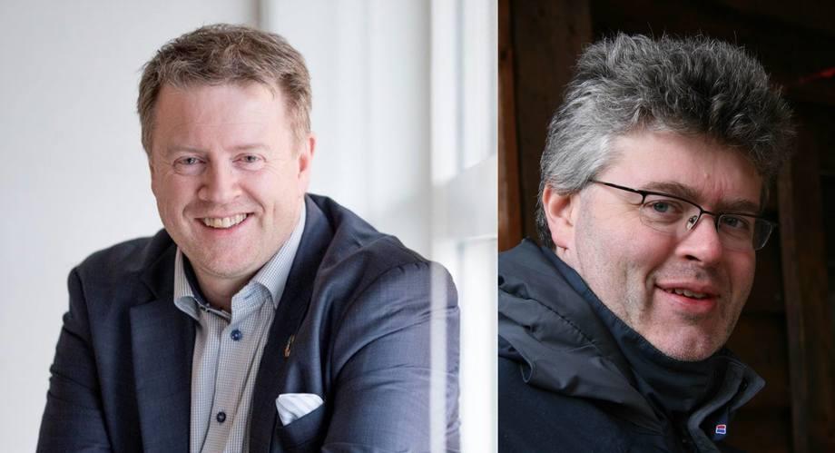 Björgólfur Hávarðsson fra NCE Seafood Innovation Cluster og Helge Bjordal, salgssjef i Nagelld.