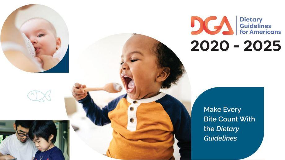 Las Pautas dietéticas para estadounidenses incluyen bebés y niños menores de dos años por primera vez desde 1985.