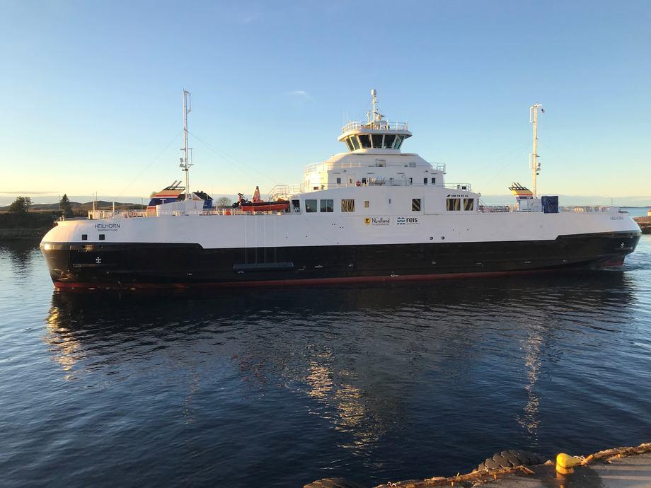 MF «Heilhorn» skal trafikkere sambandet Horn - Andalsvågen i Nordland. Foto: Torghatten