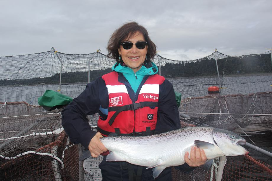 Vilma Cavieres. Foto: Mowi Chile.