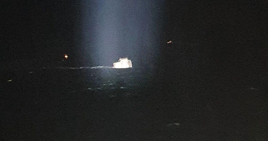 Laxars fôrflåte sank i helgen på Foto: Islandske kystvakt.