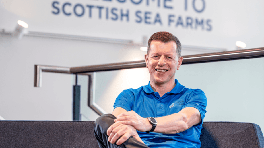 SSF managing director Jim Gallagher saw fish survival improve in 2020 after a difficult year in 2019 and expects the company to harvest 36,000 tonnes this year. Photo: SSF.