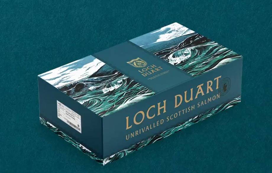 Loch Duart's re-branded packaging. Image: Loch Duart promotional video.