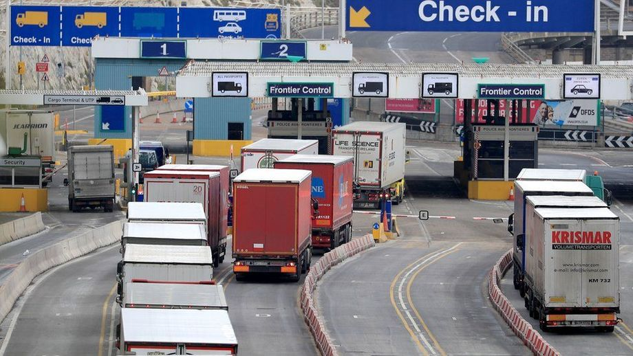 Lorries at Customs in Dover. Complex new regulations and untested procedures have caused problems at distribution hubs in Scotland and at Customs on both sides of the Channel. File photo: BBC.