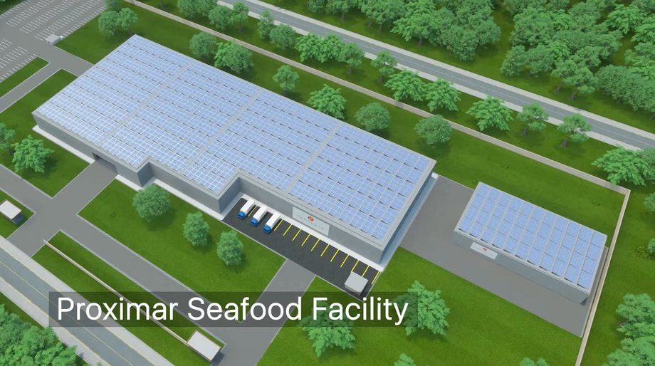 The construction contract has been signed for Proximar Seafood's salmon RAS in Japan. Image: Proximar / AquaMaof.