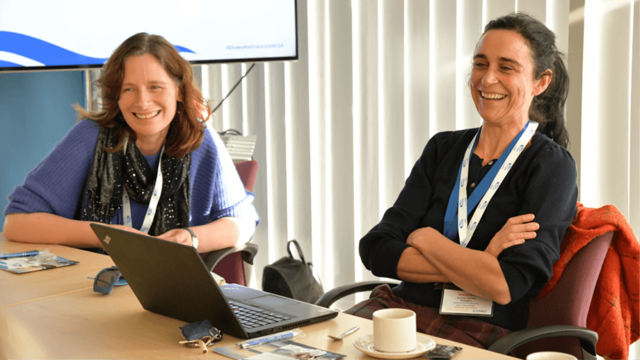 WiSA member Mary Fraser, head of skills and talent at SAIC, and WiSA co-chair Teresa Garzon, UK key account manager for fish health and diagnostics company PatoGen, want to help women advantage of opportunities in aquaculture. Photo: SAIC.