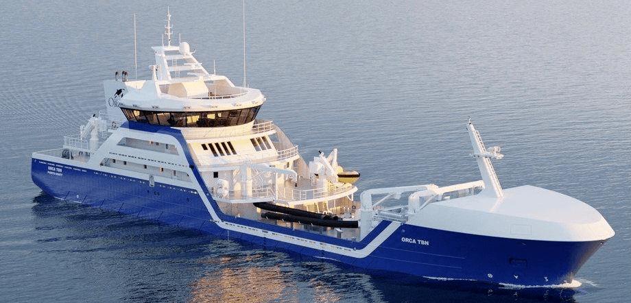 Nuevo wellboat de Naviera Orca llegará a Chile. Foto: Salmones Camanchaca.