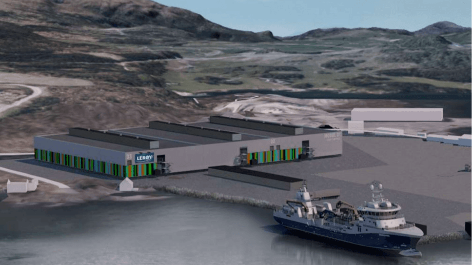 Lerøy is planning a post-smolt facility with the option to grow fish to harvest size. Image: Lerøy Q4 presentation.