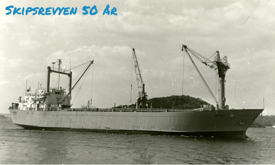 MS «Berby» var i aktiv tjeneste i ganske nøyaktig 40 år. Foto: Sjøhistorie/Arne Gundersen