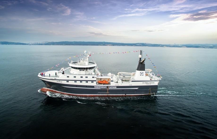 70 meter lange «Olympic Prawn» er levert fra Cemre til Olympic Seafood. Foto: Cemre Shipyard