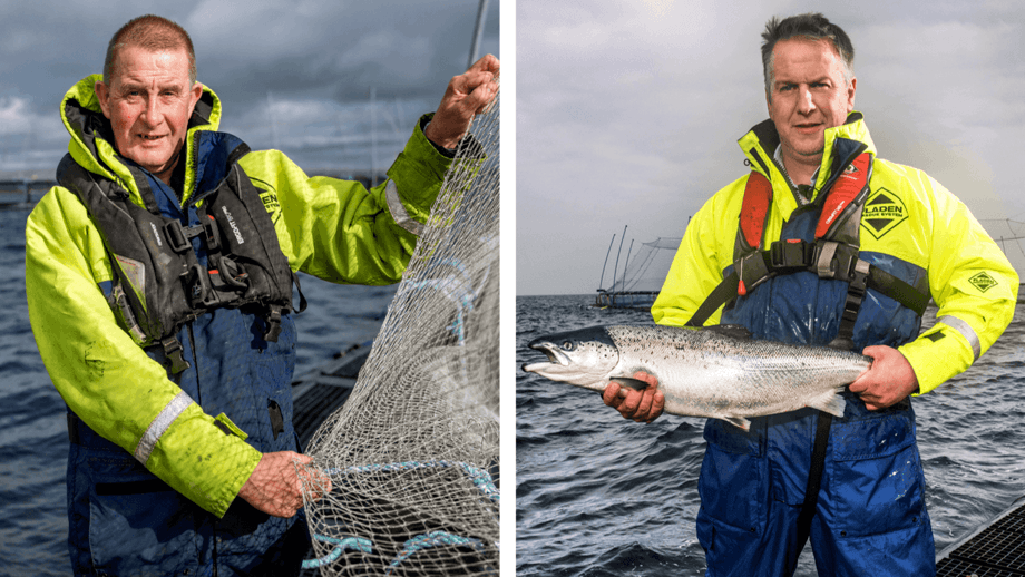 Robert Peterson, left, and Stewart Rendall form Cooke's strengthened senior management team in Orkney. Image: Cooke / Fish Farmer magazine.