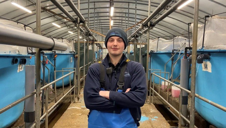 Cooke freshwater technician Callum Duggan won two awards and was runner up in a third category. Photo: Cooke Aquaculture Scotland.