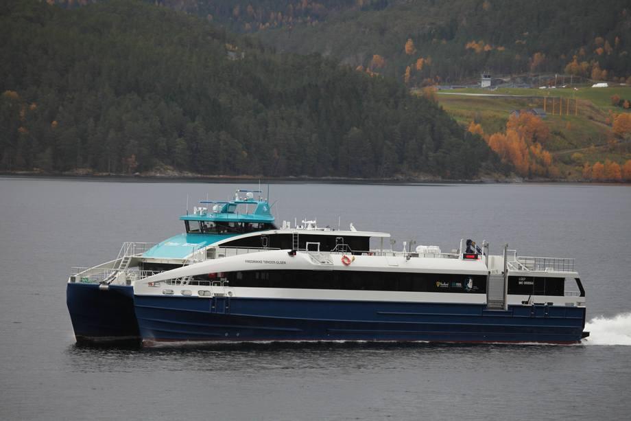 «Fredrikke Tønder-Olsen» er det tredje søsterskipet som Brødrene Aa leverer til Nordland Fylkeskommune. Foto: Brødrene Aa
