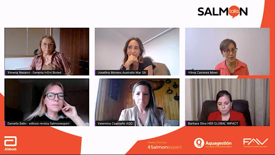 Primera charla Salmon Talks reunió a una alta cantidad de asistentes online.