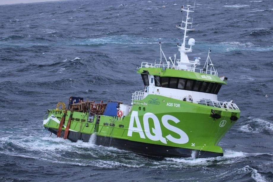 «AQS Tor» er berget. Foto: Kystvakta/KV Bergen