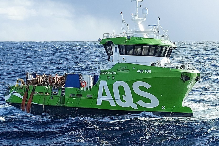The AQS Tor drifting in the sea. An attempt will be made to tow the vessel when the weather eases. Photo: Coast Guard / KV Bergen.