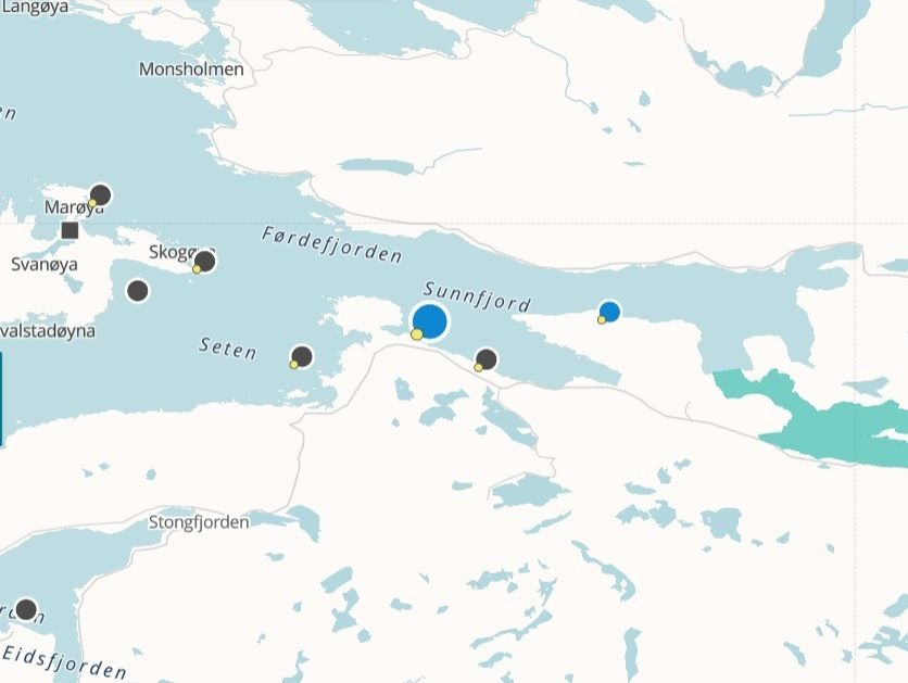 Det har vært en rømming på Storevik lokaliteten til Flokenes Fiskefarm. Foto: Barentswatch