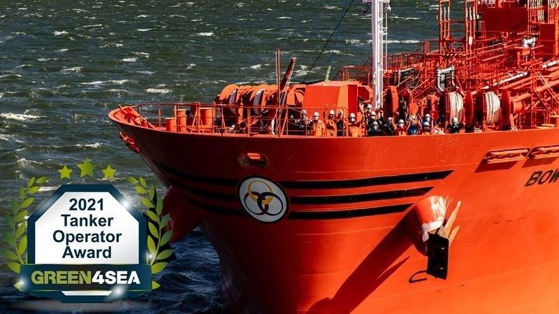 Odfjell vant internasjonal miljøpris. Foto: Odfjell.