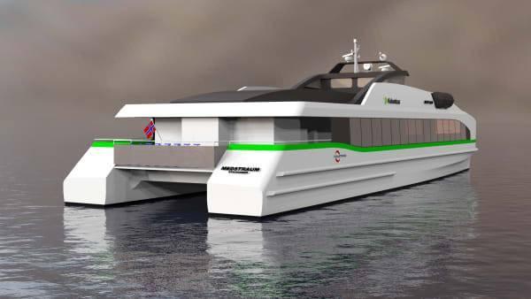 Verdens første helelektriske hurtigbåt. Foto: Norled