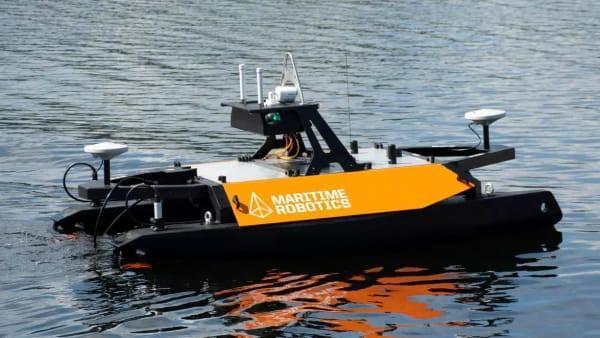 Akvaplan-niva's nyinnkjøpte autonome fartøy «Otter Pro»  er produsert av Kongsberg Maritime. Foto: Akvaplan Niva