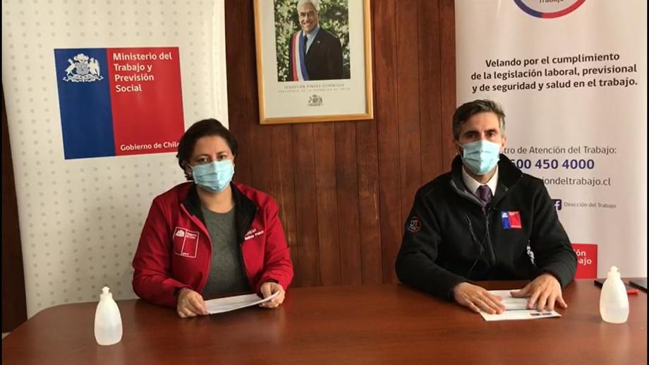 Autoridades del Trabajo de Aysén. Foto: Seremi del Trabajo de Aysén.