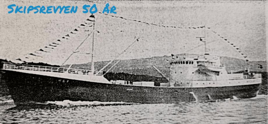 «Endre Dyrøy» med ny Wichmann-maskin under prøvetur i 1971. Faksimile fra Skipsrevyen nr. 1/1971.