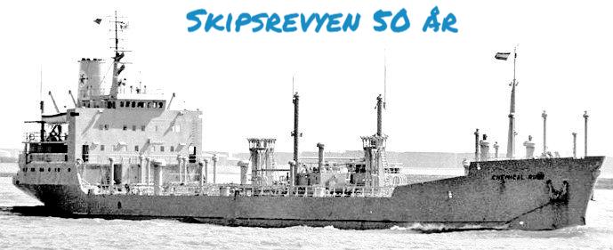 Kjemikalietankeren «Chemical Rubi»  var eid av Nordenfjeldske Damskibsselskab og tjenestegjoder fra 1971 til 2005. Foto: NFDS
