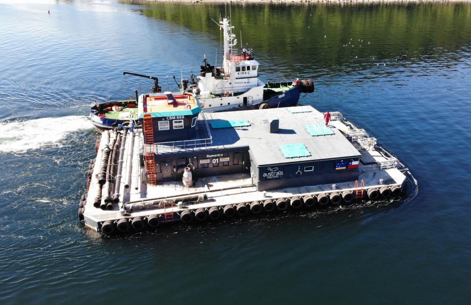 Salmoducto entregado a Australis Seafoods. Foto: Sitecna.