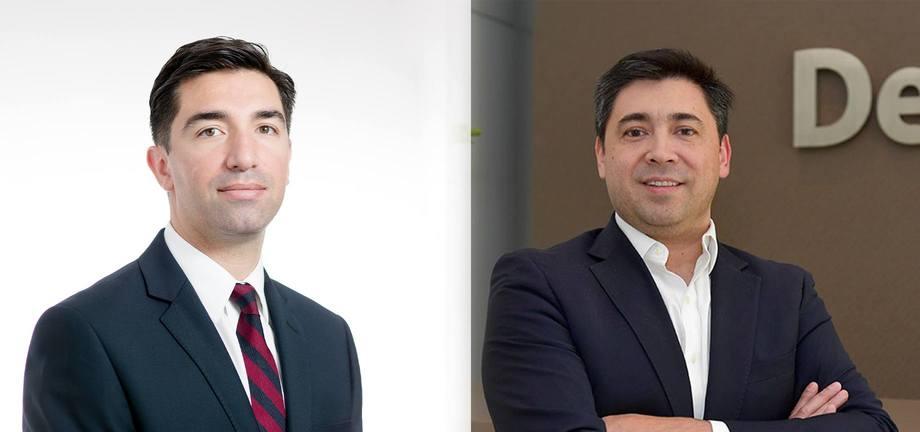 Mario Rodríguez, Office Managing Partner de EY Patagonia y David Falcon, director de Sustentabilidad de Deloitte. Imagen: EY y Deloitte.