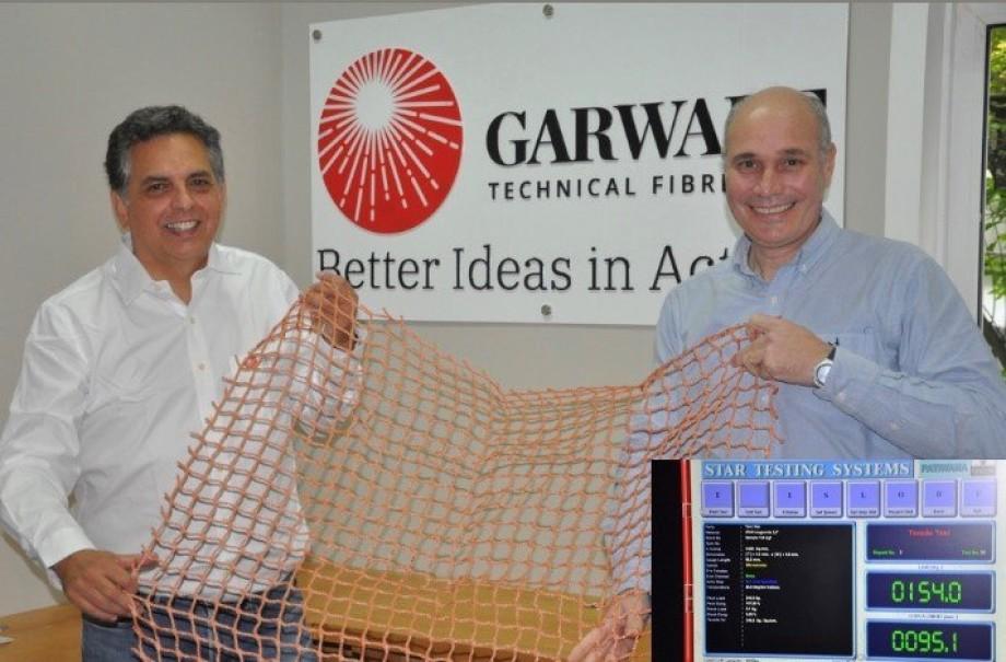 Marcos Jofré y Francisco Serra, business associate y gerente comercial de Garware Technical Fibres Chile. Foto: Garware.
