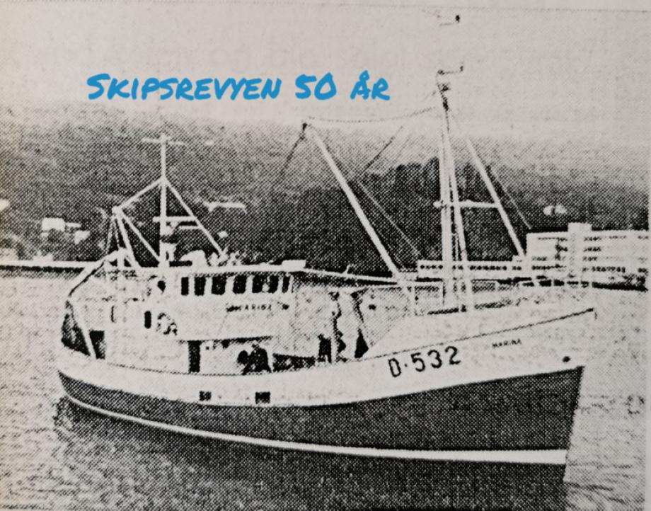 «Marina» ble overlevert til redere i Irland i juli 1971. Faksimile fra Skipsrevyen nr. 1/1971.