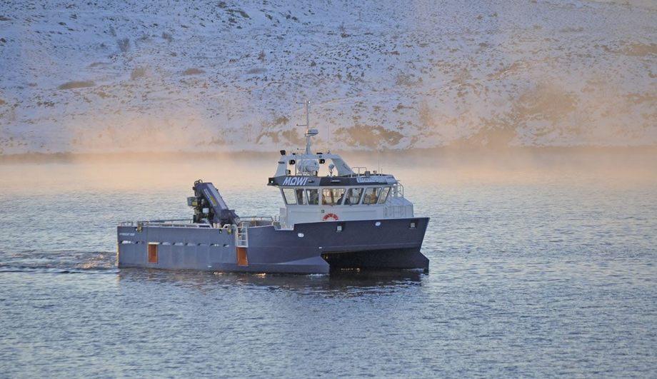 MS «Stortind» er levert fra Promek på Smøla til Mowi Norway. Foto: Promek